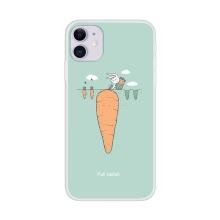 Kryt pro Apple iPhone 12 / 12 Pro - gumový - králík s obří mrkví