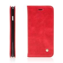 Pouzdro pro Apple iPhone 7 Plus / 8 Plus - stojánek a prostor na doklady - červené