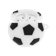 Pouzdro pro Apple AirPods - poutko / karabina - silikonové - fotbalový míč