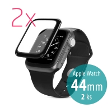 Tvrzené sklo (Tempered Glass) WIWU pro Apple Watch 44mm Series 4 / 5 / 6 / SE- 3D okraj - sada 2 kusů