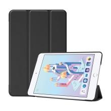 Pouzdro pro Apple iPad mini 4 / mini 5 - stojánek + funkce chytrého uspání - umělá kůže - černé