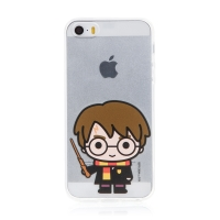 Kryt Harry Potter pro Apple iPhone 5 / 5S / SE - gumový - Harry Potter - průhledný