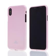 Kryt MERCURY Jelly Case pro Apple iPhone X - gumový - růžový - lesklý