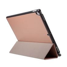 """Pouzdro / kryt pro Apple iPad Pro 12,9"""" / 12,9"""" (2017) - integrovaný stojánek - umělá kůže - Rose Gold"""