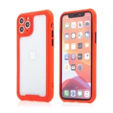 Kryt pro Apple iPhone 11 Pro Max - plastový / gumový - přesné výřezy fotoaparátu - červený