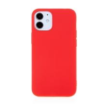 Kryt FORCELL Soft pro Apple iPhone 12 mini - gumový - červený
