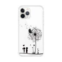 Kryt pro Apple iPhone 11 Pro Max - gumový - pár a pampeliška