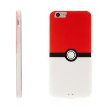 Kryt pro Apple iPhone 6 / 6S - plastový / gumový - Pokemon Go / Pokeball