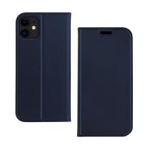Pouzdro DZGOGO pro Apple iPhone 11 - prostor pro platební karty - umělá kůže - tmavě modré
