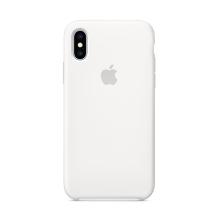 Originální kryt pro Apple iPhone Xs - silikonový - bílý