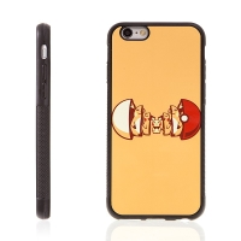 Kryt pro Apple iPhone 6 / 6S - kovový povrch - gumový - Pokemon Go / Pikachu a Pokeball