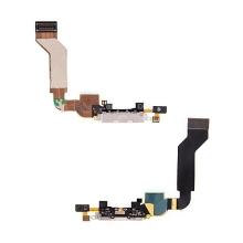 Flex kabel + mikrofon + napájecí a datový konektor pro Apple iPhone 4S - bílý - demontované (used)