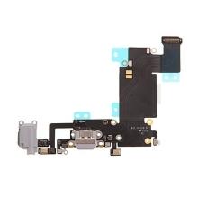 Napájecí a datový konektor s flex + audio konektor jack + GSM anténa + mikrofony pro Apple iPhone 6S Plus - šedý - kvalita A+