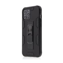Kryt FORCELL Defender pro Apple iPhone 12 / 12 Pro - plastový / gumový - černý