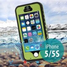Voděodolné plastové pouzdro Redpepper pro Apple iPhone 5 / 5S / SE s podporou funkce Touch ID + poutko na ruku - zelené