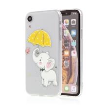 Kryt pro Apple iPhone Xr - gumový - průhledný / slon s deštníkem