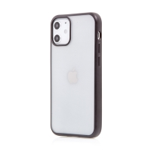 Kryt FORCELL Electro Matt pro Apple iPhone 12 mini - gumový - průhledný / černý