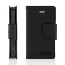 Pouzdro Mercury Fancy Diary pro Apple iPhone 4 / 4S, stojánek a prostor pro platební karty - černé