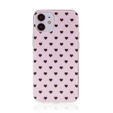 Kryt BABACO pro Apple iPhone 12 mini - gumový - srdíčka - růžový