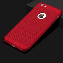 Kryt MOFi pro Apple iPhone 6 / 6S - perforovaný / s otvory - plastový - červený