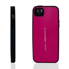 Plasto-gumový kryt Mercury Focus Bumper pro Apple iPhone 5 / 5S / SE - růžový