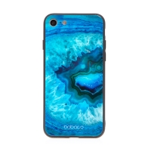 Kryt BABACO pro Apple iPhone 7 / 8 / SE (2020) - skleněný - Akvamarín