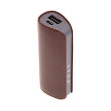 Externí baterie / power bank 2600mAh - hnědá