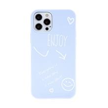 Kryt pro Apple iPhone 12 / 12 Pro - Enjoy every day - gumový - modrý