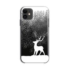 Kryt FORCELL Winter pro Apple iPhone 12 Pro Max - gumový - průhledný / sob ve vánici