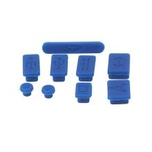 Antiprachové silikonové záslepky (sada 9ks) pro Apple MacBook, MacBook Pro a MacBook Air - modré