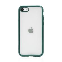 Kryt FORCELL Electro Matt pro Apple iPhone 7 / 8 / SE (2020) - gumový - průhledný / zelený