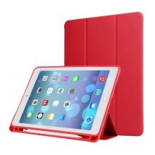 """Pouzdro / kryt pro Apple iPad Air 3 / Pro 10,5"""" - funkce chytrého uspání + stojánek - gumová záda - červené"""