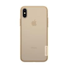 Kryt NILLKIN Nature pro Apple iPhone X - gumový - průsvitný / zlatý