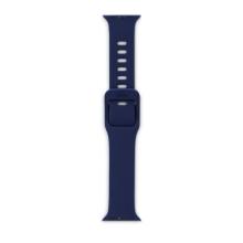 Řemínek EPICO pro Apple Watch 44mm Series 4 / 5 / 6 / SE / 42mm 1 / 2 / 3 - silikonový - modrý