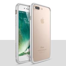 Rámeček / bumper TOTU pro Apple iPhone 7 Plus / 8 Plus - guma / hliník - stříbrný