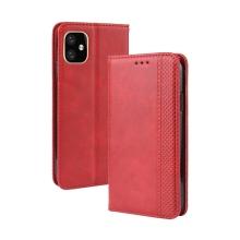 Pouzdro pro Apple iPhone 11 - prostor pro platební karty - umělá kůže - červené