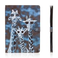 Pouzdro pro Apple iPad Pro 12,9 - stojánek a prostor na doklady - cool žirafy