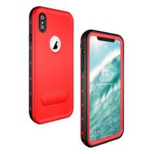 Pouzdro RedPepper Dot+ pro Apple iPhone Xs Max - voděodolné - plastové - černé / červené