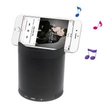 Reproduktor Bluetooth - stojánek na telefon - vstup USB / AUX / Micro SD - plastový - černý