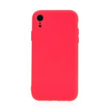 Kryt pro Apple iPhone Xr - příjemný na dotek - silikonový - růžový