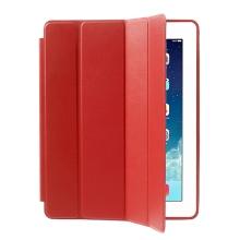 Pouzdro / kryt pro Apple iPad 2 / 3 / 4 - funkce chytrého uspání + stojánek - červené