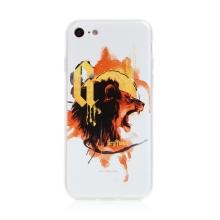 Kryt Harry Potter pro Apple iPhone 7 / 8 / SE (2020) - gumový - lev Nebelvíru - bílý