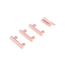 Sada postranních tlačítek / tlačítka pro Apple iPhone 7 (Power + Volume + Mute) - růžová (Rose Gold) - kvalita A+