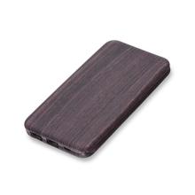 Externí baterie / power bank PURIDEA - 10000 mAh - 2x USB, 3A - textura tmavé dřevo