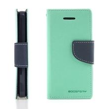 Ochranné pouzdro pro Apple iPhone 5C Mercury Goospery s prostorem pro umístění platebních karet - tyrkysovo-modré