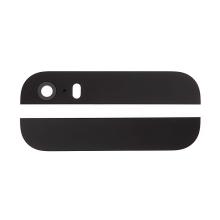 Horní a dolní sklo zadního krytu pro Apple iPhone 5S / SE - černé - kvalita A+