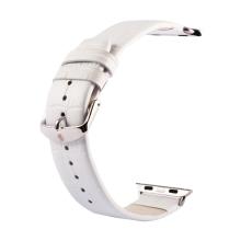 Řemínek Kakapi pro Apple Watch 44mm Series 4 / 5 / 6 / SE / 42mm 1 / 2 / 3 + šroubovák - kožený - bílý