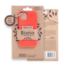 Kryt FOREVER BIOIO - pro Apple iPhone 12 mini - Zero Waste kompostovatelný kryt - červený