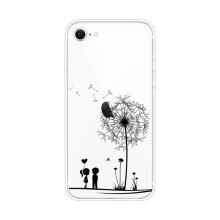 Kryt pro Apple iPhone 7 / 8 / SE (2020) - gumový - pár a pampeliška