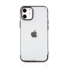 Kryt FORCELL Electro pro Apple iPhone 12 mini - gumový - průhledný / černý